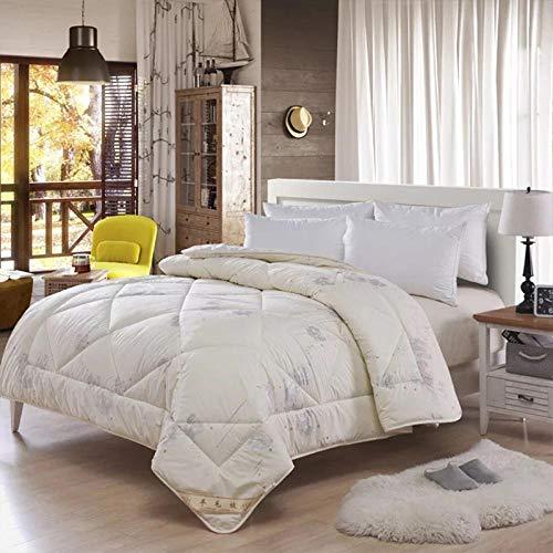 SBD Antiallergisch,Australian Wool Winter Duvet Gesteppte Quilt König Königin Twin voller Größe Tröster Decke 100{72857c3c873f87a32db5bb18b3948b24880b7e8b6cb4636df9af3ba8b26cdec5} Wolle Bettwäsche Filler-150x200cm 2.0kg_Cream,daunendecke Winter 135x200