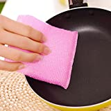 #4: Evana 4 Pcs Sponge Scrubber Bowl Dish Washing Pot Scourer Random Color