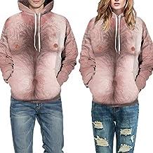 Malloom® Unisex herren und damen Nackt 3D Printed Cool Pullover Langarm-Kapuzen-Sweatshirt Tops Shirt Bluse
