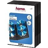 Hama DVD-Hülle 5er-Pack (geeignet für 4 DVDs, auch passend für CDs und Blu-rays, mit Folie zum Einstecken des Covers) schwarz