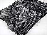 Formano Kuscheldecke 150x200 cm und Kuschelkissen 50x50 cm 'Cord', grau-silber, 2-teiliges Set
