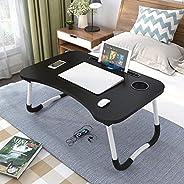 طاولة صغيرة قابلة للطي ومكتب للابتوب، 6 الوان (اللون: اسود