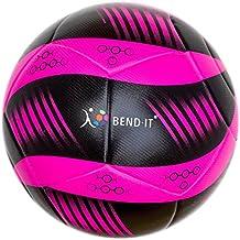 Bend-It Soccer, Curl-It Pro, Pallone Da Calcio Di Formato 5, Premium Match Ball, Pallone Ufficiale Di Partita (Rosa / nero (Culr-It Pro Atomic), 5)