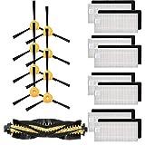 GreatFun Kit di spazzole di setole di ricambio, accessori di ricambio per robot spazzamento (1 * spazzola a rullo 4 set spazzola laterale 8 * filtro) - per Eecovacs Deebot N79 N79S