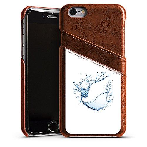 Apple iPhone 4 Housse Étui Silicone Coque Protection Eau Water Tache Étui en cuir marron