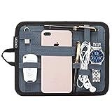 """Cocoon Grid-It - Pochette et Organiseur pour iPad 7-9""""/Système de Rangement avec Sangles/Tapis de Souris - Gris/18.4 x 1 x 23.5cm"""