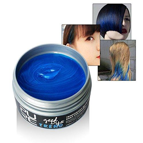 Romantic Bear Temporäre Haare Färben Wachs, Einweg-Styling Hair Cream (Gel Grün Haarfarbe)