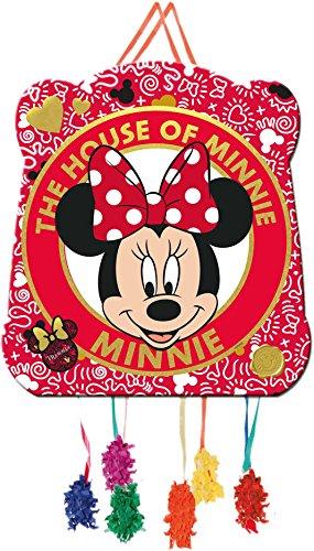 Pinata * MINNIE MOUSE * - als Zugpinata für bis zu 7 Kinder - von Disney. Wird mit Süssigkeiten oder Spielen gefüllt, ca. 28cm Durchmesser // Piñata Mexiko Kinder Geburtstag Kindergeburtstag Spiele Spass Disney