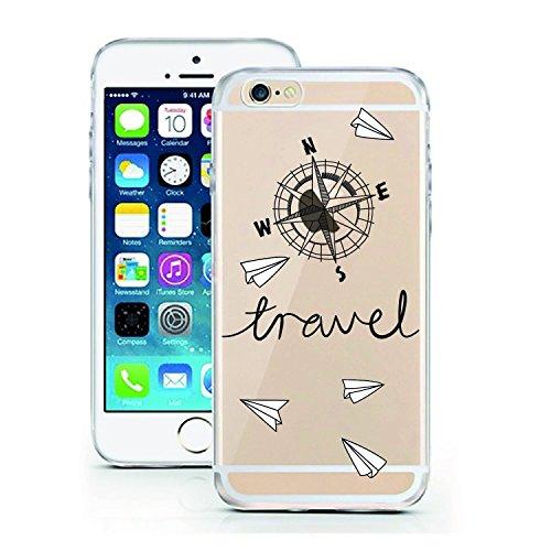 Blitz® ADORE Schutz Hülle Transparent TPU Cartoon Comic Case iPhone Bambi iPhone 6 6s Travel