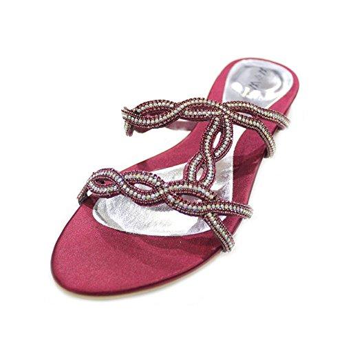 Wear & Walk UK , Sandales pour femme gold/green/silver/turquoise Bordeaux