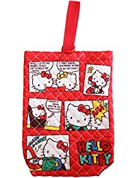 Hello Kitty quilt shoes bag/American comic style