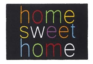 """Schmutzfangmatte / Fußmatte / Fussmatte / Fußabstreifer / Fußabtreter / Schmutzmatte Modell ,,AMBIANCE FLASH home sweet home """" lustig witzig Größe : ca. 50 x 70 cm. / Luxus hochflor Qualität mit optisch bedrucktem Rand / hochwertige in beindruckendem Design Fußmatte"""