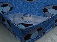 MR SLEEPS BEDS LIMITED 3FT SINGLE BLUE FOOTBALL ECONOMY BUDGET MATTRESS WIDTH 3FT (90cm) - LENGTH 6FT3 (190cm) (approx size)