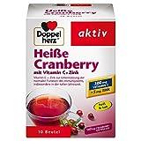 Doppelherz Heiße Cranberry – Vitamin C und Zink zur Unterstützung der normalen Funktion des Immunsystems – 1 x 10 Beutel
