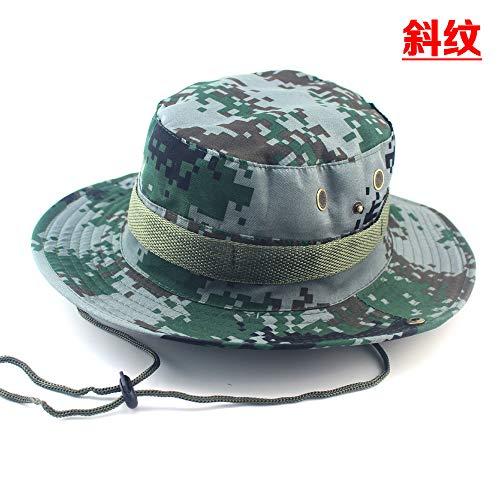 Runder Hut des zufälligen Dschungels des Fischerhutes im Freien, der Fischen-Tarnungsmütze wandert.40 56-62cm
