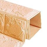 Adesivi mattoni WINOMO 3D Carta mattoni muro per decorazione in schiuma di 60x60 cm