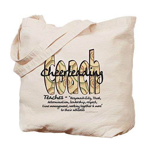 CafePress–Cheer Coach Spirale Muster–Leinwand Natur Tasche, Reinigungstuch Einkaufstasche Tote S khaki