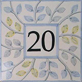 Azul'Decor35 Street number hand-painted - Choose your number!