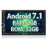 """PUMPKIN Android 7.1 2GB + 32GB Autoradio Multimedia Player mit GPS Navigation 7"""" 18cm Bildschirm Unsterstützt Bluetooth WLAN DAB+ Subwoofer..."""
