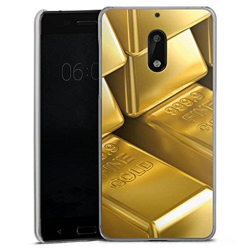 DeinDesign Nokia 6 2017 Hülle Case Handyhülle Goldbarren Gold Barren