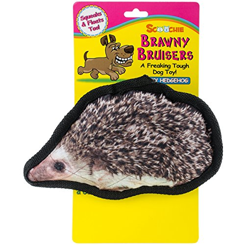 scoochie-pet-products-brawny-bruisers-rocky-hedgehog-dog-toy-8-inch