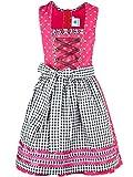 Isar-Trachten Jugenddirndl mit Schürze 64907 Kinderdirndl pink beere (Pink, 140)