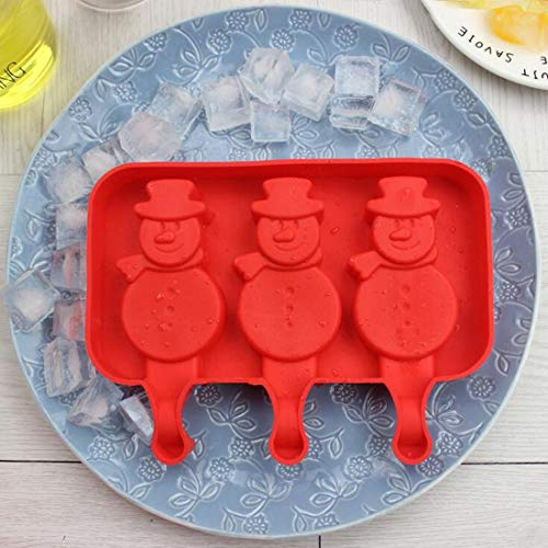 Ice Cream Makers - 3 Holes Oval Ellipse Shape Silicone Ice Cream Mold Cute Rabbit Popsicle Molds Tray Cube Frozen - Bowl Containers Phone Cone Case Tray Mold Mould Rabbit Molds Maker Pipe Cu Oval Chocolate Mold