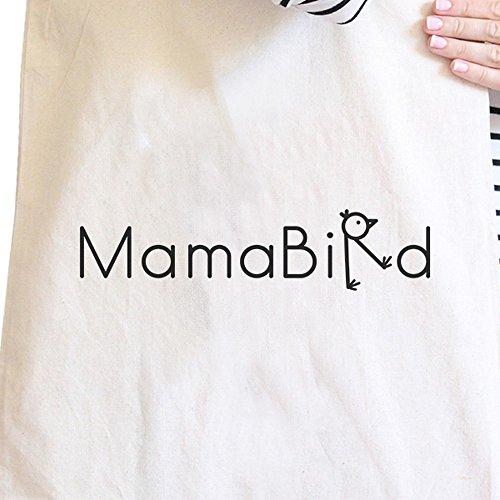 365 Printing inc , Borsa da spiaggia  Donna MamaBird - Black MamaBird - Natural