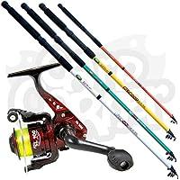 b95690d3d1c New Lineaeffe Telescopic Coarse + Sea Fishing Travel Rod & SL30 1BB Reel +  Pre-