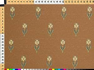 Tessuto da tappezzeria, rivestimento in tessuto, tessuto da tappezzeria, tessuto, tessuto della tenda, tessuto - accenti, Patricia, arancio- e marrone - rustici fiori Web su alta qualità Jacquard