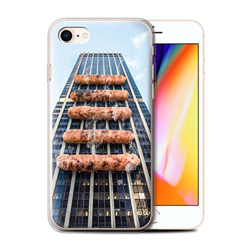 Stuff4 Gel TPU Hülle / Case für Apple iPhone 8 / König Koala Muster / Unten Unter Kollektion Grill/BBQ