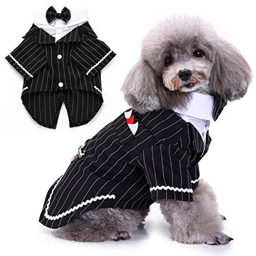 Legendog vestiti per cani signore smoking completo da uomo animale domestico cane camicia da tappetinorimonio con collo arco