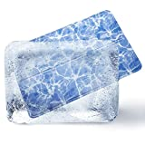 Bedsure Kühlmatte für Hunde und Katzen - Selbstkühlende Kühldecke mit Coolem Welligkeit-Muster für Große und Mittlere Hunde 90x60 cm