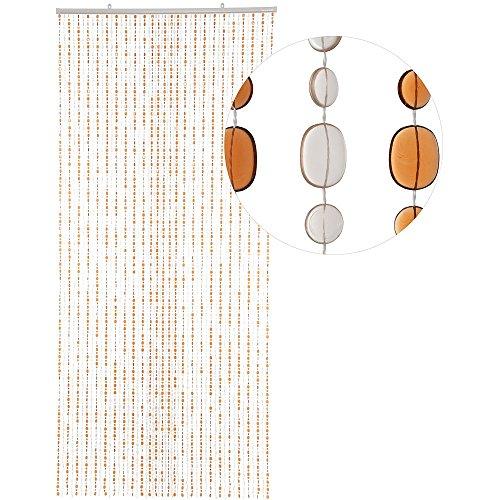 Hab & gut (dv0226 tenda per porte design: ovale, colore: marrone, materiale: plastica, dimensioni: 90 x 200 cm