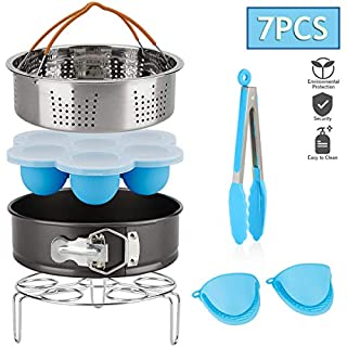 HJL 7 Pcs Steamer Basket Rack Set for Pressure Cooker for Instant Pot Accessories,Stainless Steel Steamer Basket for Cooking,Energy Class A+