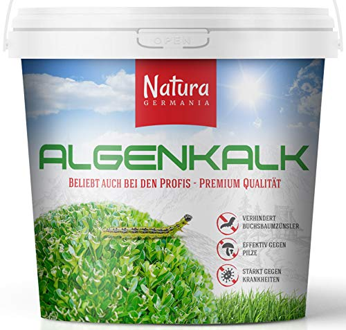 Natura Germania Algenkalk Pulver 5kg, Effektiv für die Bekämpfung gegen Buchsbaumzünsler -