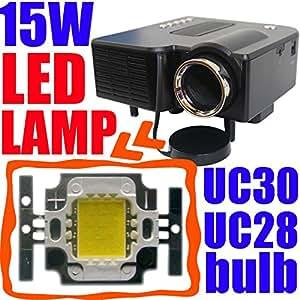 MU 15W Ampoule LED pour la populaire Mini Projecteur UC30 UC28 GM40, Projecteur Lampe Wick Burner remplacement, améliorer la luminosité