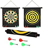#7: Protokart High Quality Big Size Foldable Magnetic Dart Game with 4 assorted colours non pointed magnetic darts, Double faced portable, Strong and powerful magnets, Solid darts, 12 Inches BIG size