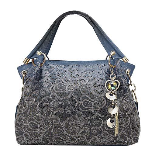 Damen Kleine Umhängetasche - Crossbody Bag mit Kette Schulterriemen - PU Leder Schultertasche - Messenger Handtasche mit Reißverschluss - Abendtasche City Clutch Party (Party City Party Taschen)