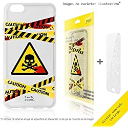 Funnytech® Housse TPU Silicone pour Iphone 5 / 5S / Se l [Design Exclusif, Impression Haute Définition] [Caution radiactivo vers.2 transp]