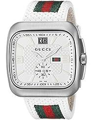 Gucci Unisex-Armbanduhr COUPE Analog Quarz Nylon YA131303