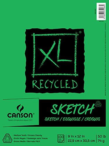 """Canson XL Reciclado Bloc de Dibujo, 0, 9""""X12"""""""