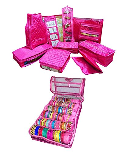 atorakushon® Combo Jewellery Kit Make up Kit Wedding Collection Gift Vanity Box...