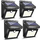 Solarlampen für Außen, Luposwiten 28 LED Solarleuchten mit Bewegungsmelder Aussenbeleuchtung Sicherheitslicht für Garten, Garage, Auffahrt, Pfad, Wand, Flur, Treppen, Innenhof und Balkon Gehwegen Solarlichter fuer Aussen [4 Stück, IP65 Wasserdicht ]