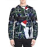 Best Fresca camisetas con capucha en los mundos - BBestseller Hombres Otoño Invierno Impresión de Navidad Top Review