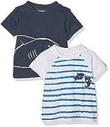 Twins Baby-Jungen T-Shirt, 2er pack, Mehrfarbig (Mehrfarbig 3200), 56