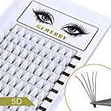 GEMERRY Volume Russe en Soie Cils Individuels Extensions D curl C curl 8-14mm mix Premade Cils 3d-10d 0.07 0.10mm naturel Eyelashes Cluster Professionnel pour Salon de Beauté (0.07mm, 5D, D-Curl)