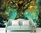 XIAOMENG Wallpaper Hintergrundbild Schöne Traum 3D Foto Tapeten Wald 3D Wallpaper Wandbilder Heimwerker Tv Hintergrund, H90 * W56Cm