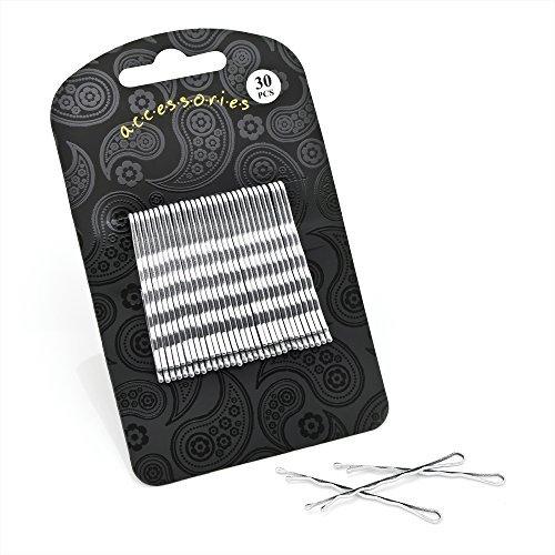 Set von 30Silber Traditionelle Haarklemmen 5cm (5,1cm)