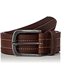 Wrangler Men's Layered Stitch Cognac Belt